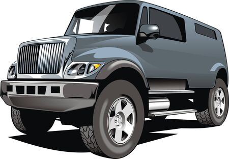 4x4: big 4x4 car design isolated on the white background