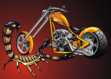 original design: my original design motorbike and scorpio as nice background