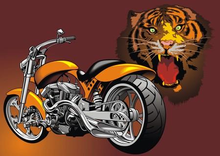 throttle: my original motorbike design with animal background