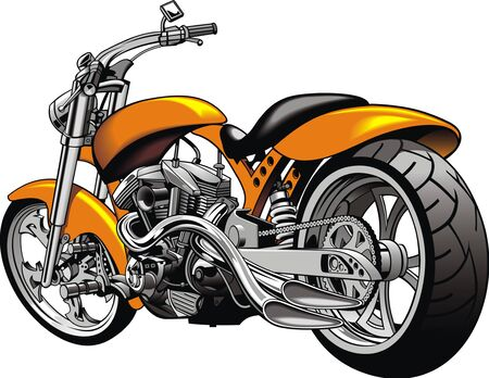 my original motorbike design isolated on the white background Vettoriali