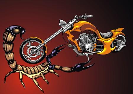 throttle: my original design motorbike and scorpio as nice background