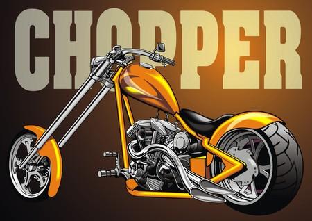 throttle: my nice original yellow motorbike chopper design Illustration