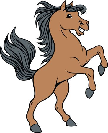 gallop: nice horse isolated on the white background Illustration