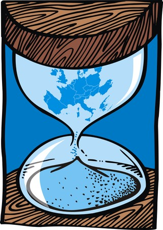 bounds: euro and europe problems as sand clock