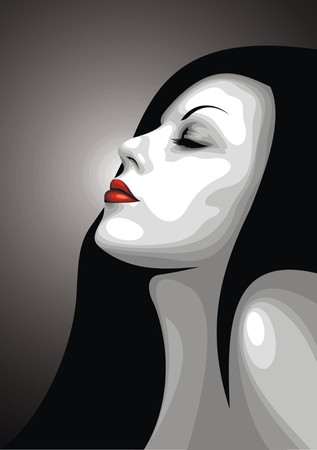 bel volto di ragazza da sogno