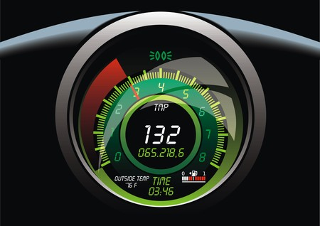 car speed: speed meter in car as transportation background