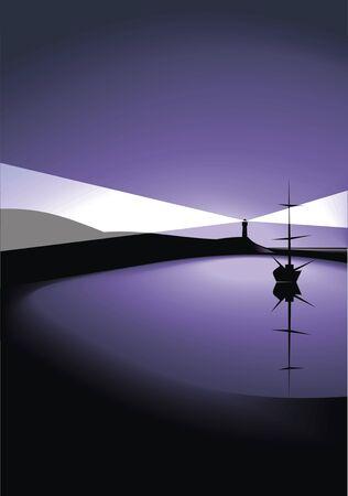 nice background: nice landscape sky and sea as nice background