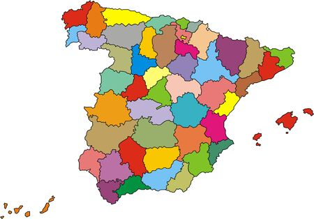 european culture: map of spain isolated on the white background