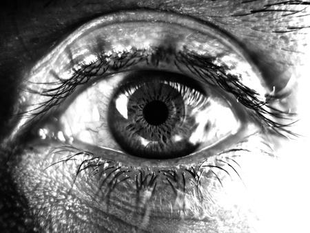 black an white: ojo blanco y negro Foto de archivo