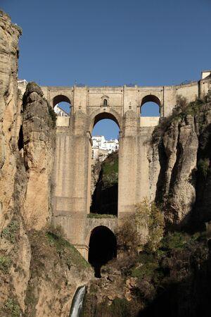 ronda: New Bridge in Ronda Stock Photo