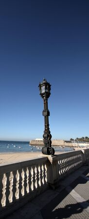 Walk on the beach of Caleta de C�diz Stock Photo