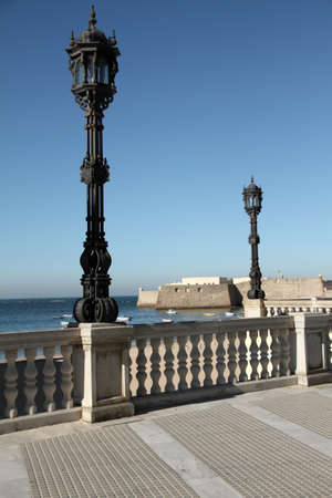 Landmark site of Cadiz, La Caleta Stock Photo