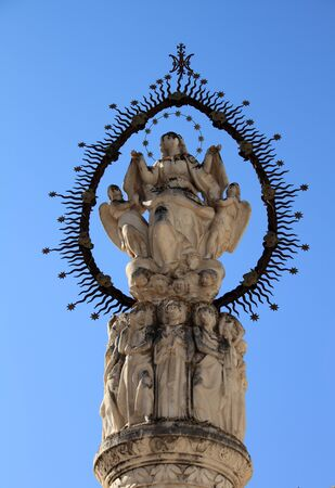 Monument in honor of the Virgin Mary, Jerez de la Frontera Stock Photo