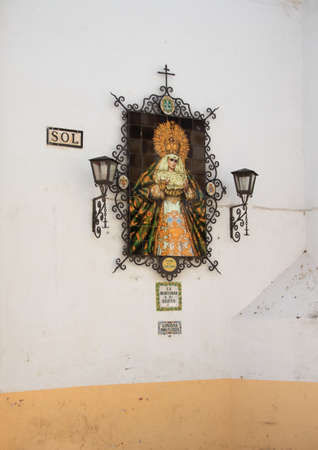 Ceramic altarpiece in the streets of Jerez