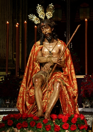 Image of Jesus, Holy Week in Seville Stock Photo