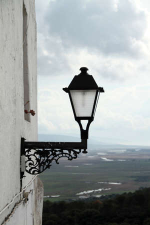 Lamppost on a street in Vejer Stock Photo