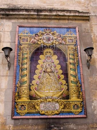Ceramic Reatablo the Virgen del Rocio