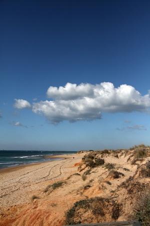 Pristine beaches Sancti Petri in Cadiz Stock Photo