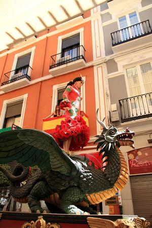 corpus: Tarasca Parade, Festival of Corpus in Granada, Spain