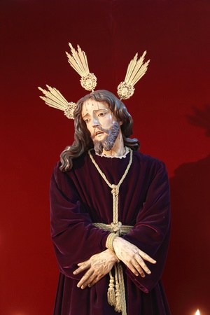 jerez: Arrest of Jesus, Holy Week in Jerez Stock Photo