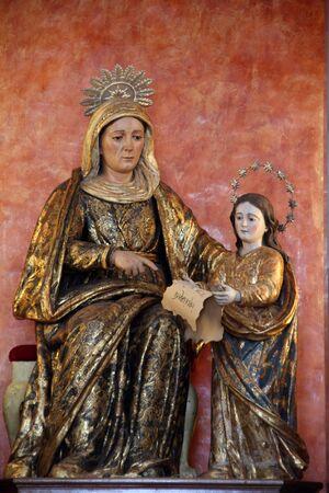 genoese: Picture of Santa Ana, XVIII century Genoese sculpture.