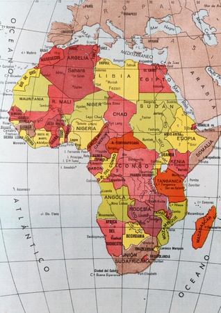 Map of Africa Stock Photo - 12182311