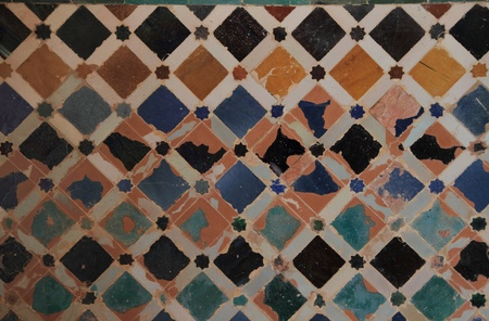 Tiles of the Alhambra in Granada Stock Photo - 12178893