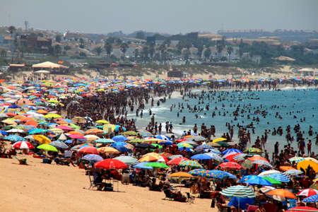 Playa La Barrosa on a summer day