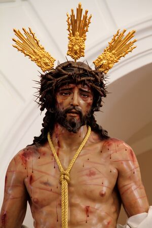 Jesus stripped of his robes in the Holy Week in Cadiz