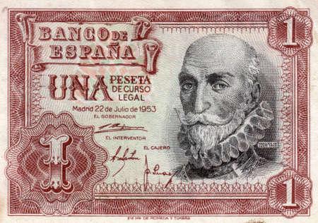 Old ticket 1 peseta