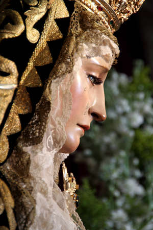 our lady of sorrows: Our Lady of Sorrows in Jerez de la Frontera Stock Photo