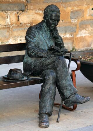Monument to Machado in Baeza Stock Photo