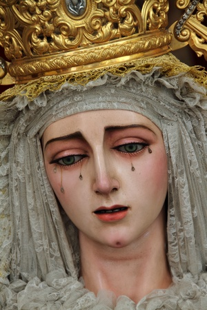 Our Lady of Peace of San Fernando in Cadiz Stock Photo