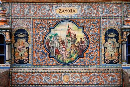 retablo: Sevilla, retablo cer�mico dedicado a la ciudad de Zamora