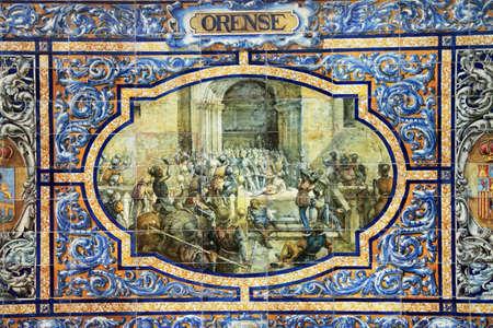 retablo: Sevilla, retablo cer�mico dedicado a Orense