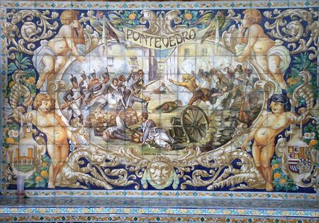 retablo: Retablo cer�mico dedicado a Pontevedra Editorial