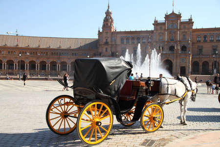 Carriage in Spain in Seville Square Editorial