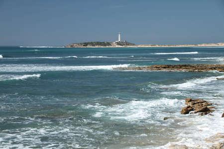 trafalgar: Trafalgar lighthouse Stock Photo