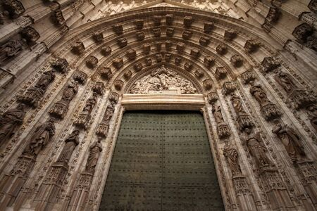 Porch of the cathedral of Seville