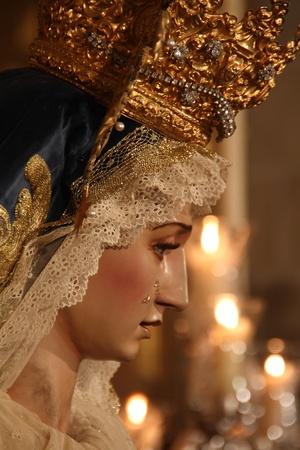 jerez: Virgin of Grief, religious art, Jerez, Spain