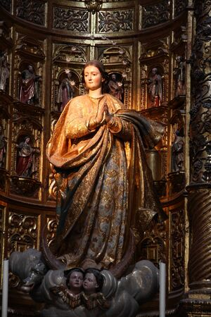 Image of the Immaculate Conception of the year 1774, C�diz, Spain Editorial