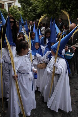 palm sunday: Nazarene Brotherhood, Palm Sunday, Jerez Editorial