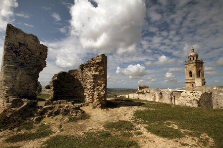 Archaeological remains of the castle and palace of Medina Sidonia, Spain Stock Photo