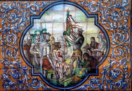 retablo: Zamora cer�mica retablo, Sevilla