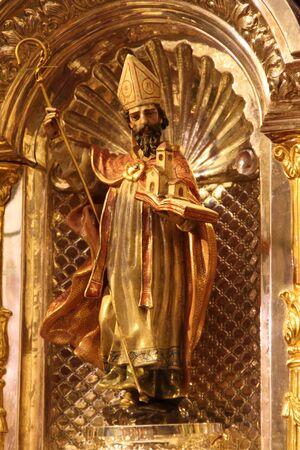 fraternit�: L'image de saint Augustin, Confr�rie du Nazar�en, Chiclana, Espagne