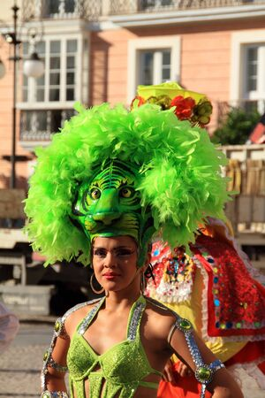 Female South American carnival of Barranquilla