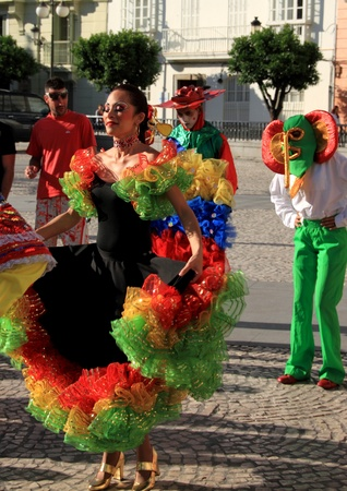 Dance, dancing, female South American, carnival of Barranquilla Stock Photo - 13372850