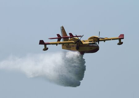 Canadair CL-215T, plane fire Editorial