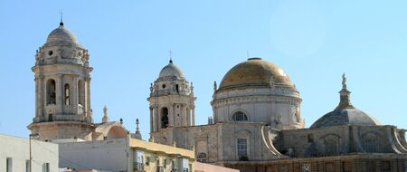 monumental: Monumental Cathedral of Cadiz Stock Photo
