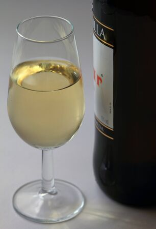 Glass of sherry Stock Photo